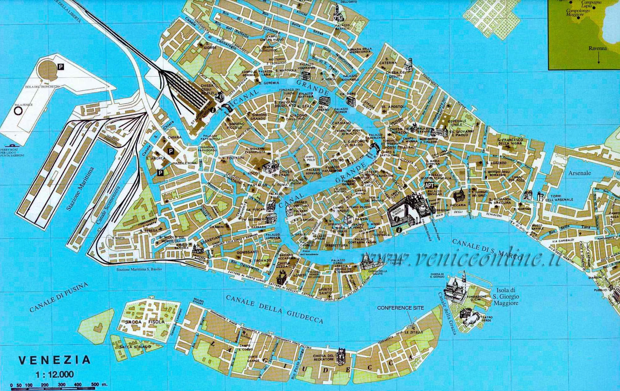Large Venice Maps for Free Download – Venice Tourist Attractions Map