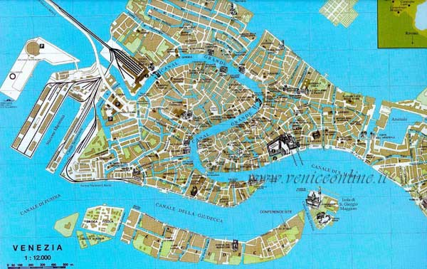 High-resolution large map of Venice - download for print out