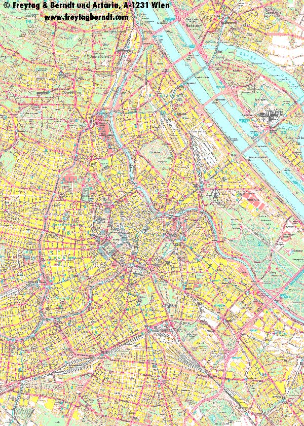 High-resolution large map of Vienna - download for print out