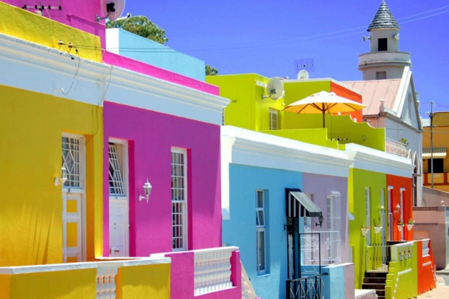 Bo kaap viertel die 13 farbreichsten und - Colores para fachadas rusticas ...