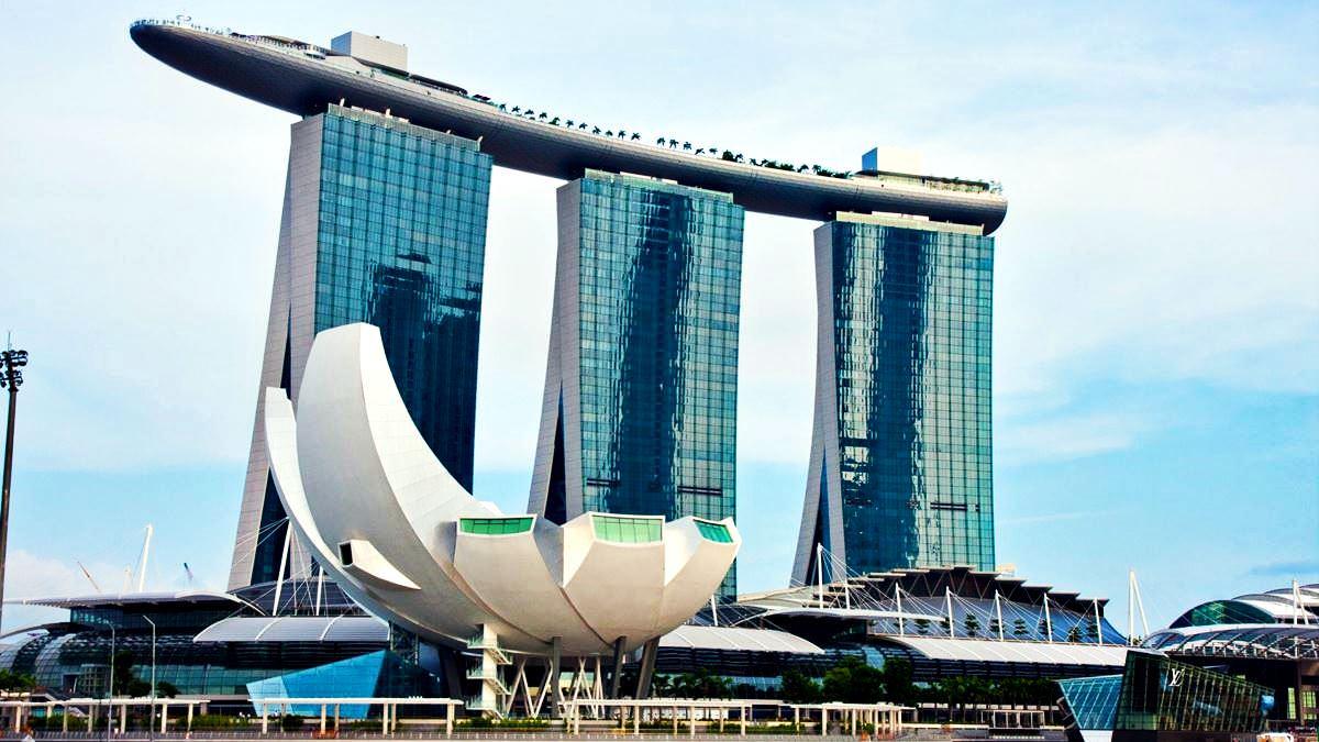 Marina Bay Sands Hotel Series Elegant Architectural Structures