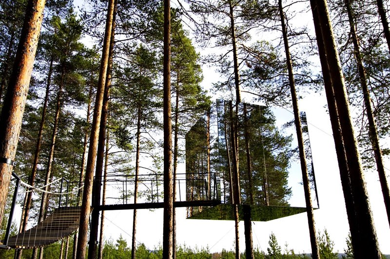 Mirror Cube Tree Hotel Series Ubelievable Residential