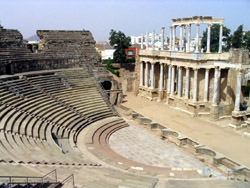 Amphitheater in Merida, Spanien