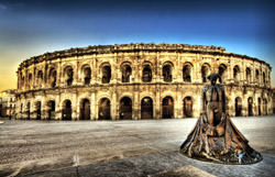 Amphitheater in Nimes, Frankreich