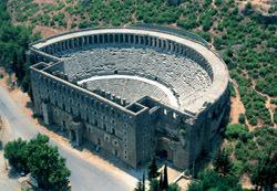 Амфитеатр Аспендоса, Турция