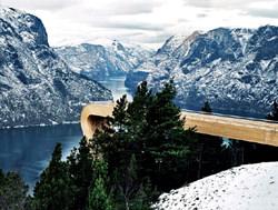 Aurland Lookout Aussichtsplattform, Norwegen
