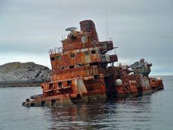 Battleship Murmansk Wrecks, Norway
