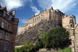 Das Edinburghschloss, Schottland