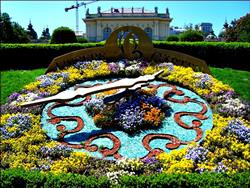 Flower Clock in Vienna