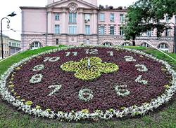 Flower Clock in the Alexander Park, Russia