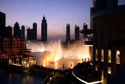 Fountains in Dubai, United Arab Emirates