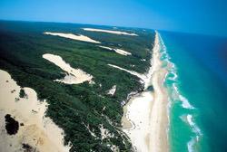 Strände auf der Fraser Insel, Australien