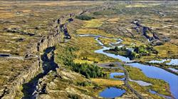 Giant rifts in Iceland