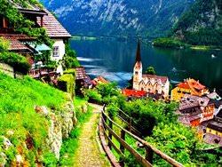 Hallstatt Dorf, Österreich