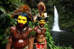 Huli Stamm, Indonesien - Papua-Neuguinea
