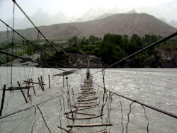 Hussaini Suspension Bridge, Pakistan