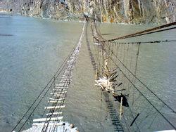 Puente de Hussaini, Pakistán