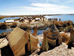 Islands on Lake Titicaca, Peru
