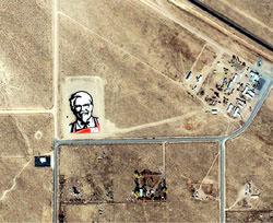Das riesige Logo von KFC