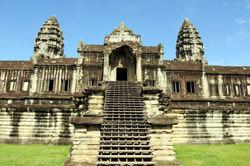 Ladder Angkor Wat, Cambodia