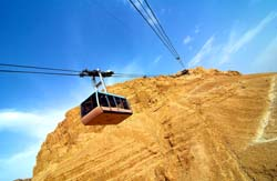 Masada Drahtseilbahn, Israel
