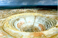 Mir Diamond Pipe, Russia