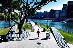 Шахматный парк в Осаке, Япония