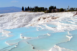 Pamukkale Travertine, Türkei