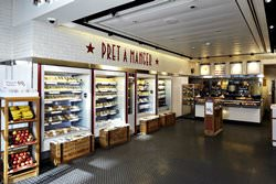 Pret a Manger in London