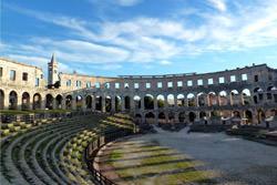Amphitheater in Pula, Kroatien