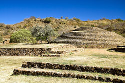 Guachimontones Pyramide, Mexiko
