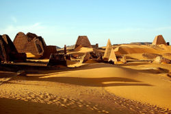 Pyramids Nubian Desert, Sudan