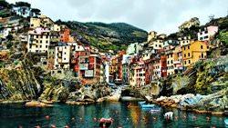 Stadt Riomaggiore, Italien