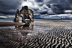 Rock Hvitserkur, Iceland