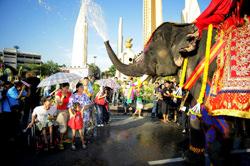 El Festival Songkran, Tailandia