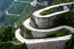 Most thrilling mountain roads