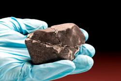 Die Reste von Meteoriten auf Sri Lanca