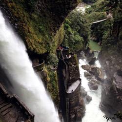 Stairs Pailon del Diablo, Ecuador