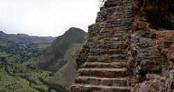 Escaleras a Machu Picchu, Perú