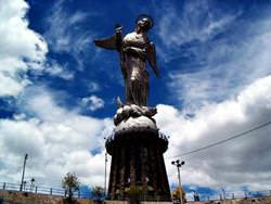 Statue of Virgin Mary Quito, Ecuador