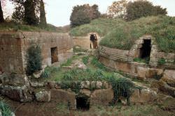 Underground pyramids of Etruscans, Italy