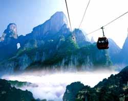Zhangjiajie Drahtseilbahn, China