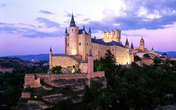 Alcazar Burg, Spanien
