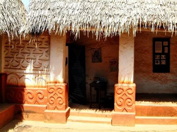 Asanta traditionelle Gebäude, Ghana