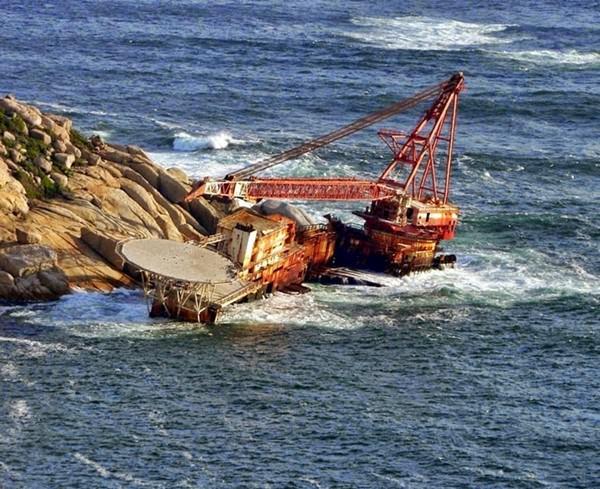 Обломки корабля BOS 400, Южная Африка