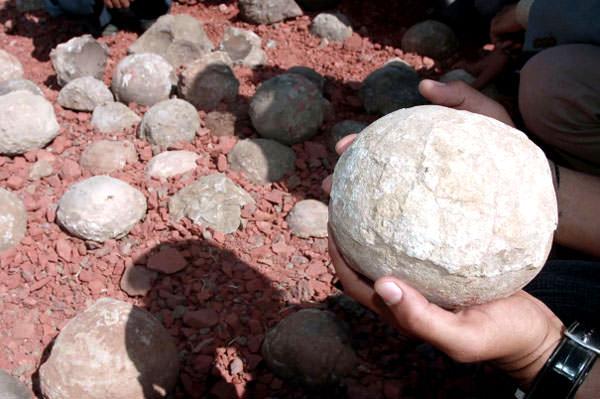 Kugeln aus Bulla Insel, Aserbaidschan