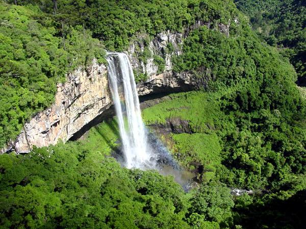 Caracol Wasserfall, Brasilien