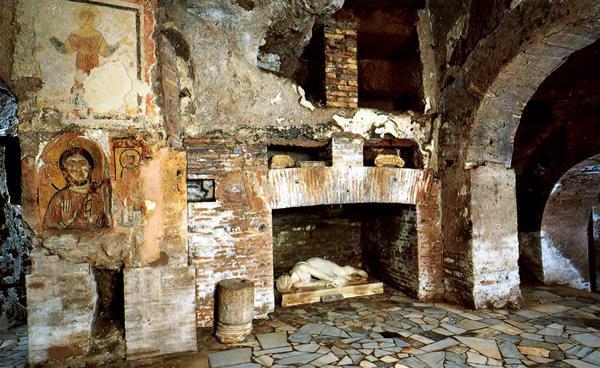 The Catacombs of San Sebastiano, Italy
