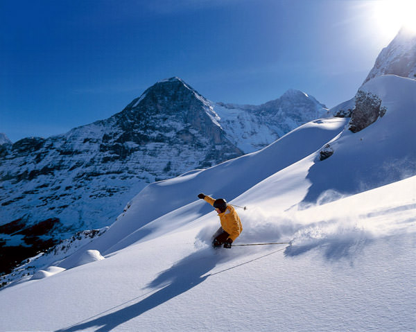 Eiger Run Ski Slope, Switzerland