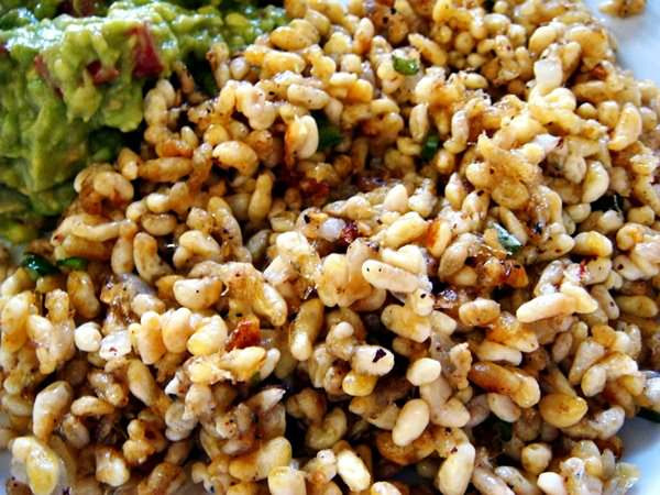 Эскамолес - яйца муравьев, рестораны Мехико, Мексика